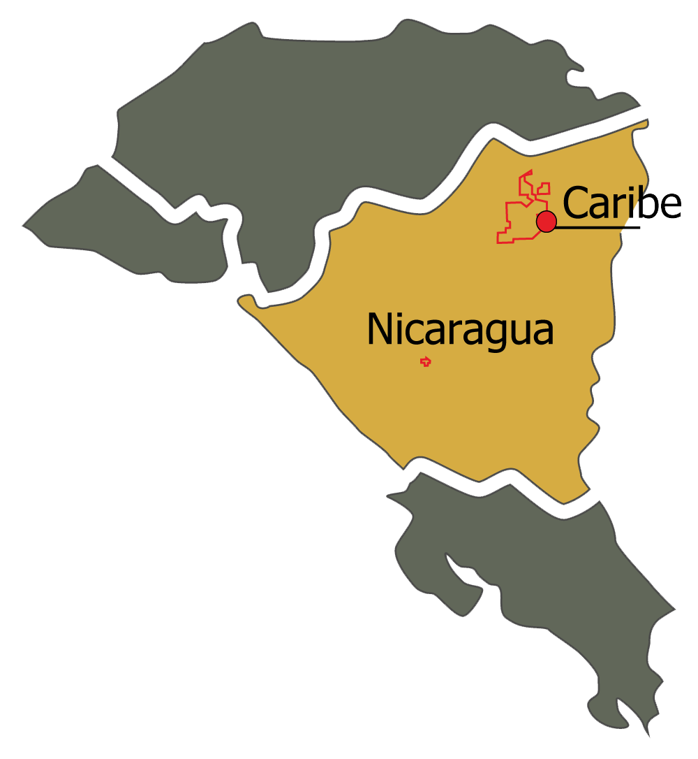 Caribe map