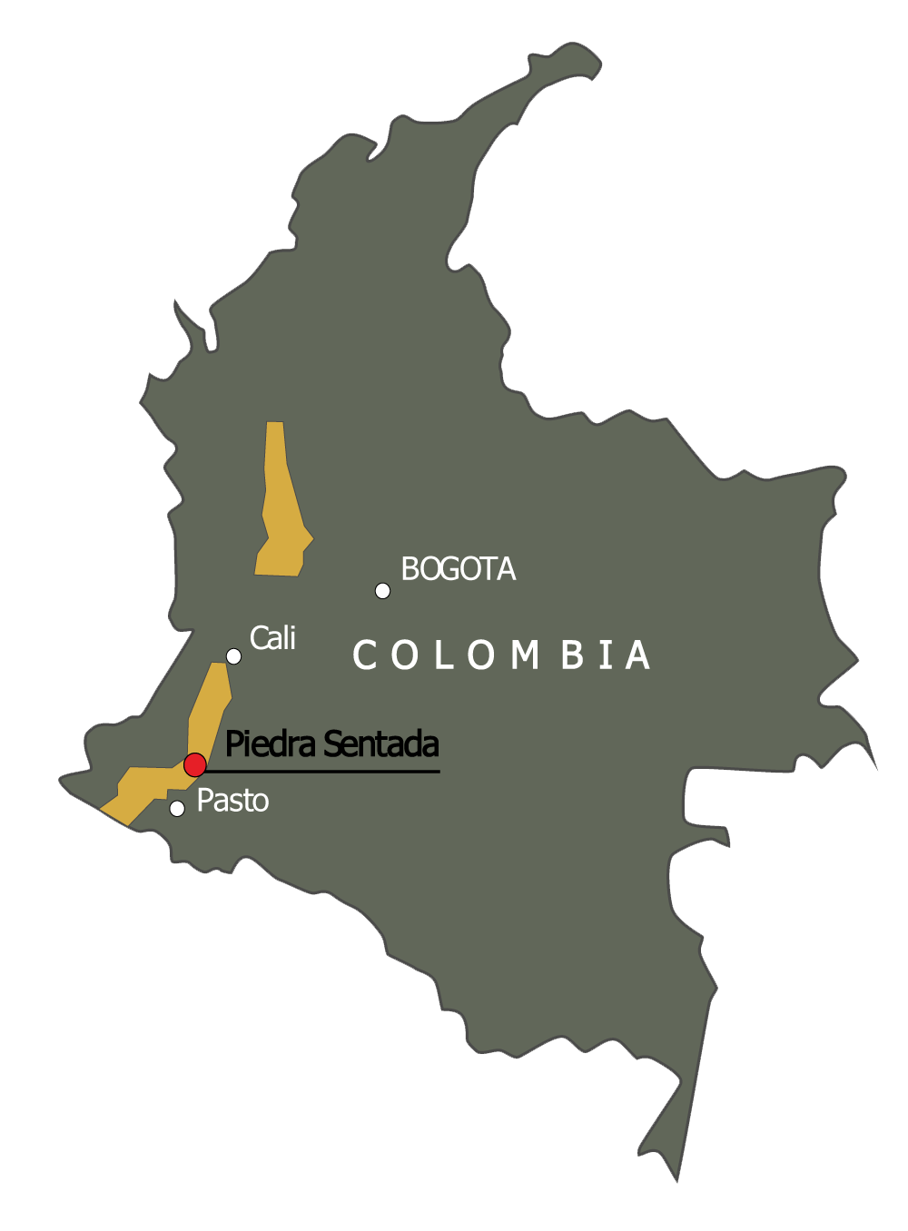 Piedra Sentada Map